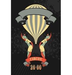 Retro circus poster vector