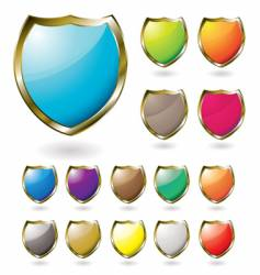 shield drop shadow vector image vector image
