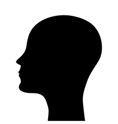 silhouette of a man head vector image vector image