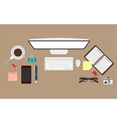 Standart workplace vector image vector image