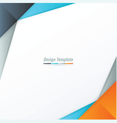 Template design orange blue gray vector