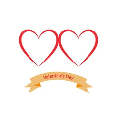 Valentines Day hearts on a white background vector image vector image