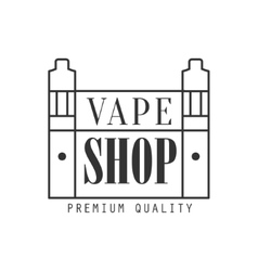 Vape shoping premium quality vapers club vector