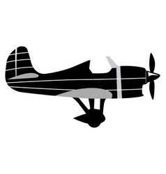 vintage airplane vector image vector image
