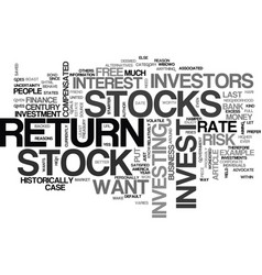 why invest in stocks text word cloud concept vector image