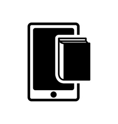 Ebook smartphone technology design vector