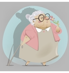 Old woman cartoon character vector