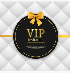Quilted invitation card vector