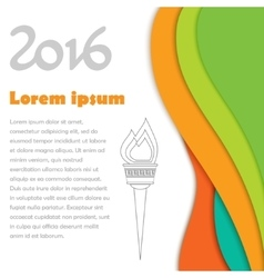 2016 Olympics brochures with abstract background vector image vector image