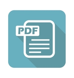 Square pdf file icon vector