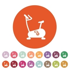 The exercise bike icon Exercycle symbol Flat vector image