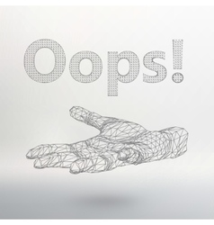Inscription - oops vector