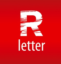 Abstract logo letter r in the form of print vector