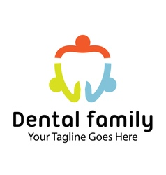 Dental family design vector