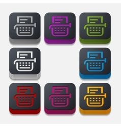 Square button typewriter vector