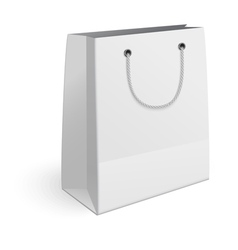 Paper shopping bag isolated on white background vector