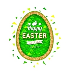 Happy easter background easter egg easter poster vector