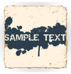 Ink blots on old paper vector image