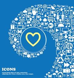 Medical heart love sign symbol nice set of vector