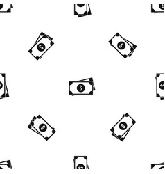 american dollars pattern seamless black vector image vector image