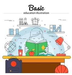 Basic Education Concept vector image vector image