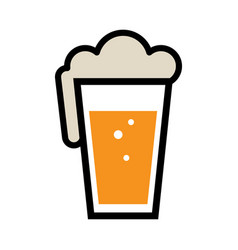 beer pint glass icon vector image vector image