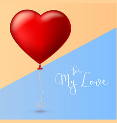 bright red heart the inflatable balloon in the vector image vector image