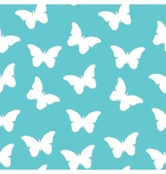 Butterfly Seamless Simple Pattern Background vector image
