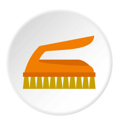 Cleaning brush icon circle vector