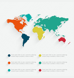 Detail infographic world map and informatio vector