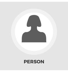Female avatar icon flat vector image