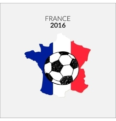 Football championship france europe 2016 vector