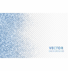 Glitter confetti falling from the side blue vector