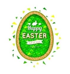 Happy Easter Background Easter egg Easter poster vector image vector image