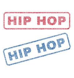 Hip hop textile stamps vector