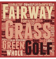 Know Your Course Fairways text background vector image