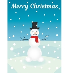 Merry Christmas Snowman Card vector image