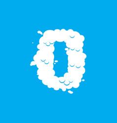 number 0 cloud font symbol white alphabet sign vector image vector image