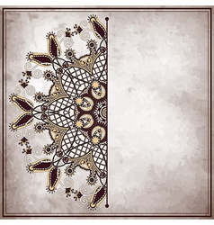 pattern on old paper vintage background vector image