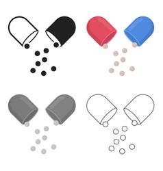 Pill icon cartoon single medicine icon from the vector