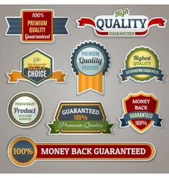 Quality labels stickers vector