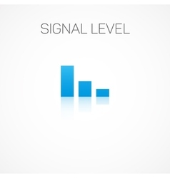 Signal level vector image vector image