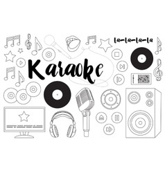 Theme of karaoke vector