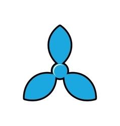 turbine boat sea lifestyle icon graphic vector image vector image