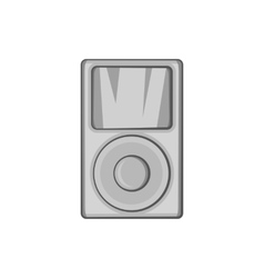 Music player icon black monochrome style vector