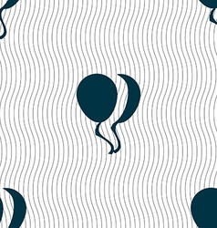 Balloon icon sign seamless pattern with geometric vector