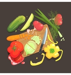 Still life with cooking ingredients for fresh vector