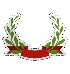 Olive branch emblem icon image vector