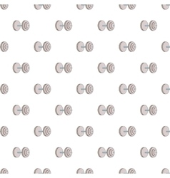 Heavy dumbbell pattern cartoon style vector