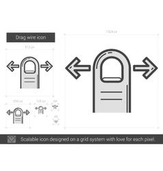 Drag wire line icon vector